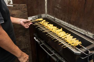 Grilled Moo satay (pork satay)
