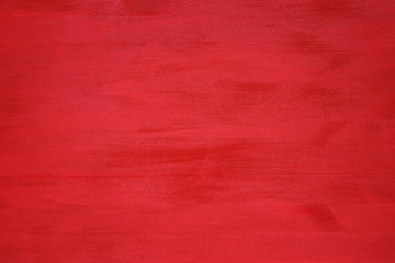 Top view image of red wooden background. Flat lay.