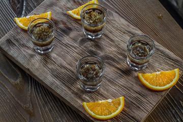 Bar alcoholic shots, mix cocktail