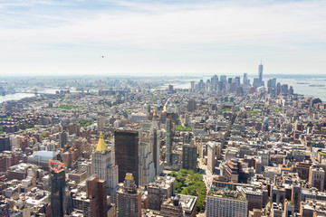 Panoramic view of lower Manhattan from the Empire State Building