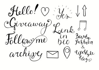 Hand drawn lettering for blogs.