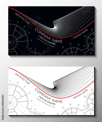 Vector set of modern creative business cards for architect 3d vector set of modern creative business cards for architect 3d architectural background for banner reheart Gallery