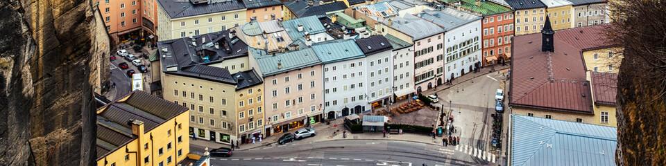 Aerial view of Salzburg