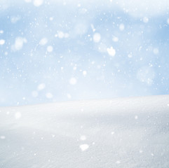 Winter background and snow