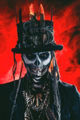 skull makeup man