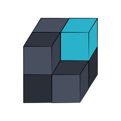 Cube 3d symbol icon vector illustration graphic design