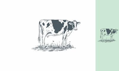 dairy cows, cows, farms, dutch, milk, livestock, emblem symbol icon vector logo