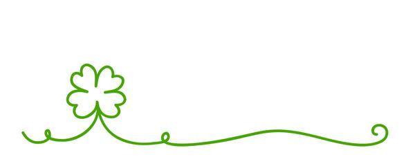 vierblättriges kleeblatt kallirgaphisch grün