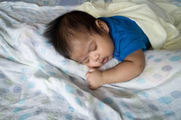 Cute asian baby sleeping