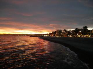 Cagnes sur mer coucher de soleil photo