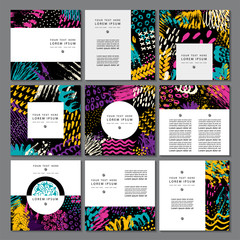 Set of creative business card template and flyers.