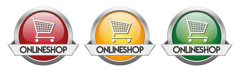 Modern Button Vector Onlineshop