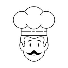 chef head avatar character vector illustration design