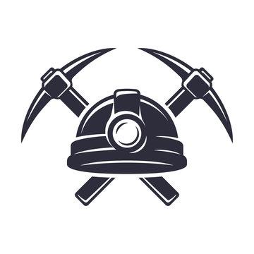 Retro mining logo
