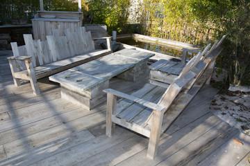 Loft wood garden design of veranda