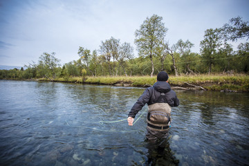 Flyfishing northern  Sweden