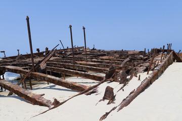 verrostetes Schiffswrack - Fraser Island - Australien
