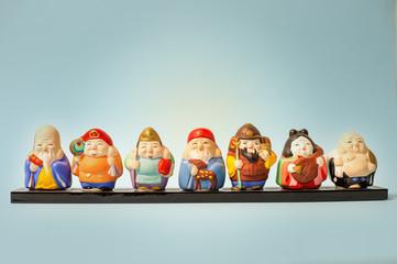 japanese seven gods of luck figures
