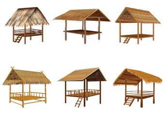 grass hut vector design