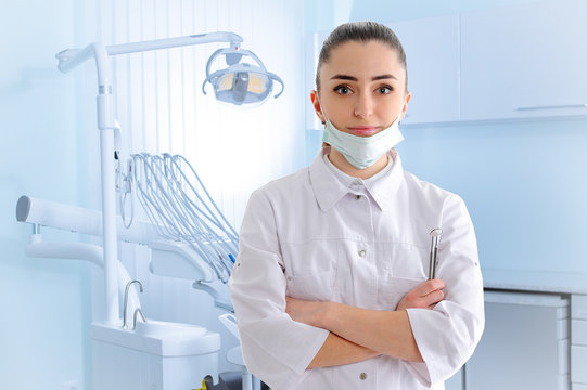 Portrait of dantist in dental clinic