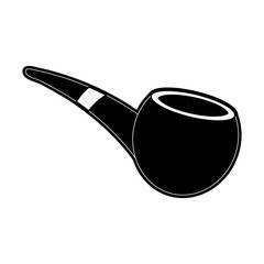 Pipe tobacco isolated icon vector illustration graphic design