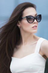Fashion cool girl in sunglasses