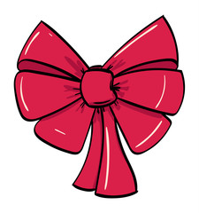 Large Shiny Candy Red Decorative Bow