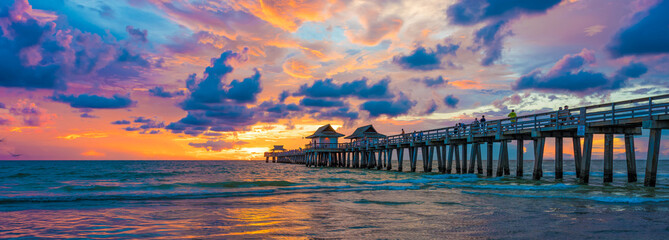 Pier on the sea in Florida
