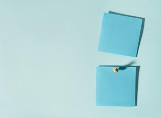 sticky note on blue background