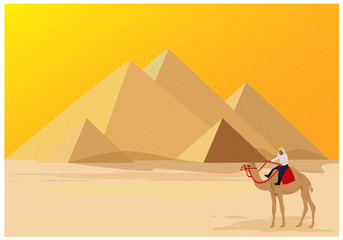one person on camel vector design