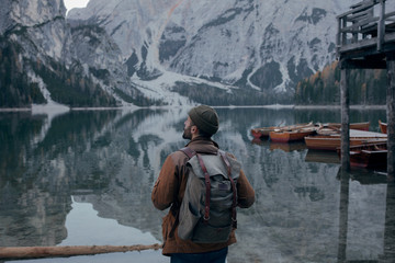 Man in a lake
