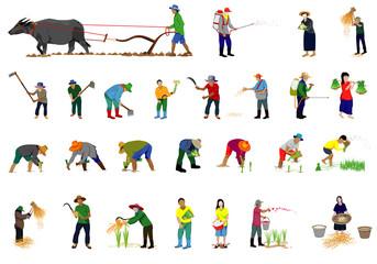 lifestyle of farmer cartoon vector design
