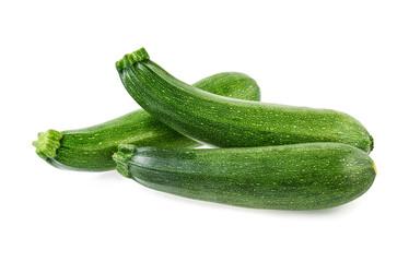 Fresh zucchini isolated on white background