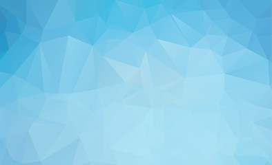 Blue Light Polygonal Mosaic Background, Vector illustration, Business Design wall background with vignette