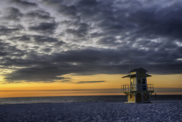 Clearwater Beach at Sunset.
