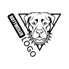 Rottweiler dog logo. Pet Emblem