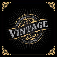 Vintage Luxury Banner Template Design