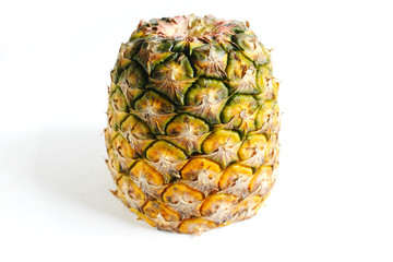 pineapple cut closeup photo isolate on white background