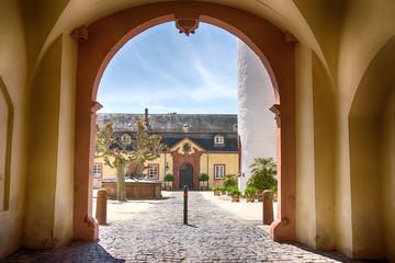 Blick in den Innenhof von Schloss Bad Homburg vor der Höhe, Hessen