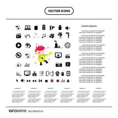 musician info graphic icon