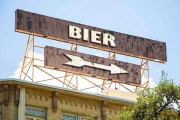 Schild 295 - Bier