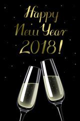 Happy New Year 2018 - illustration
