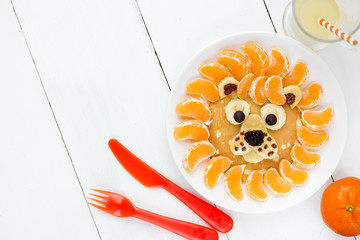 Christmas idea breakfast for children lion pancakes
