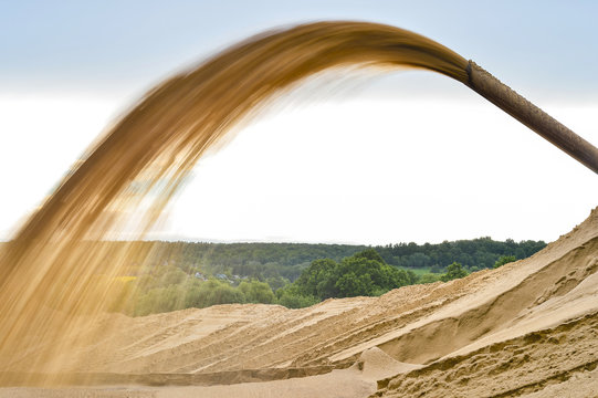 Industrial extraction of sand for construction