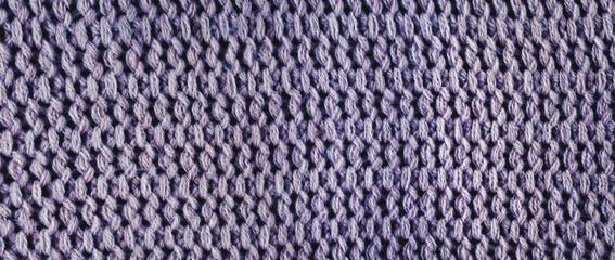 Knitted wool, panorama.