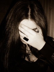Gothic young woman