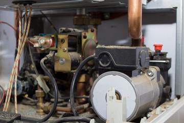 gas boiler inside