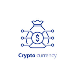 Block chain technology, crypto currency, financial item, investment portfolio, innovation business start up, invest fund icon