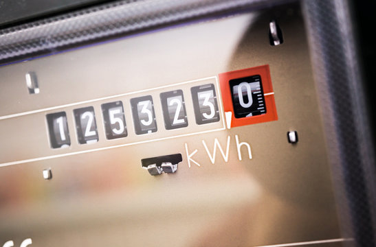 Stromzähler Close-Up