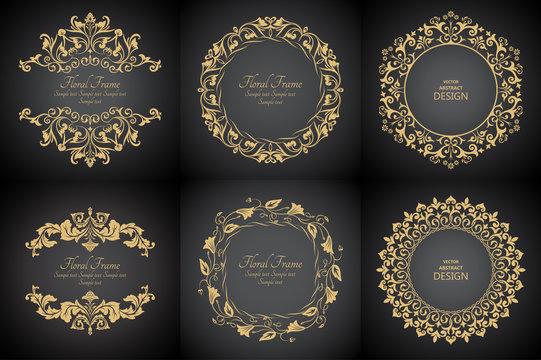 Circular baroque patterns